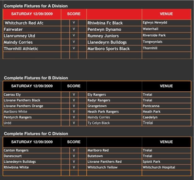 U12s Fixtures 09_10